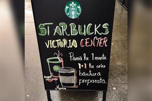 Starbucks a deschis a zecea cafenea din Capitala, in Victoria Center