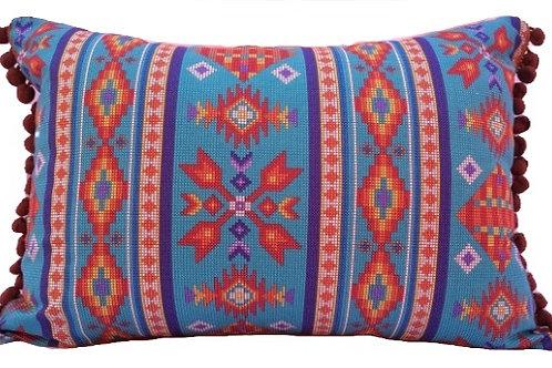 Almofada Navajo Azul