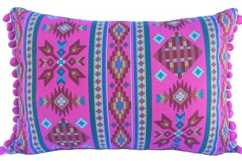 Almofada Navajo Rosa
