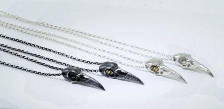 Crow Skull Pendants
