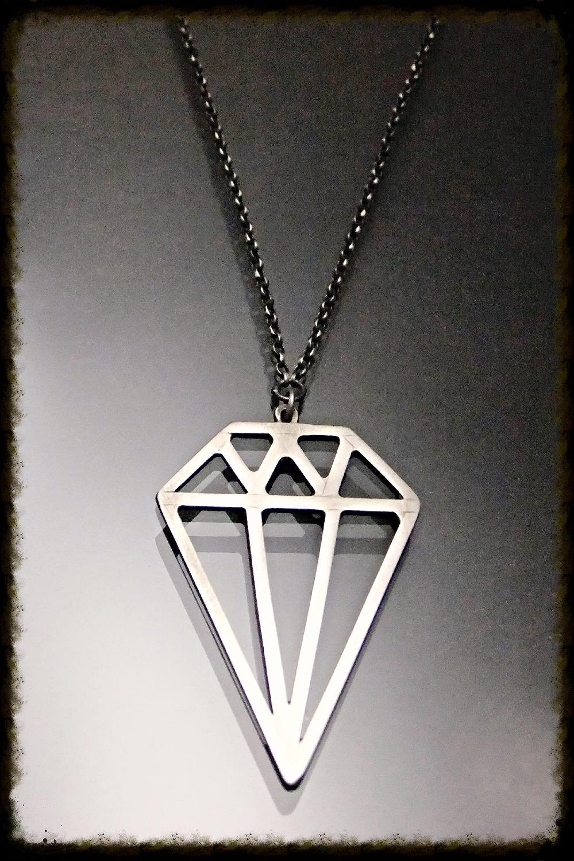 Over Sized Diamond Pendant