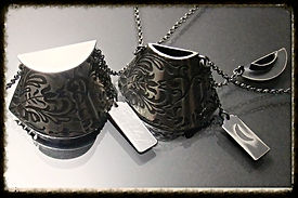 Lace Locket Containers with personalised Tags