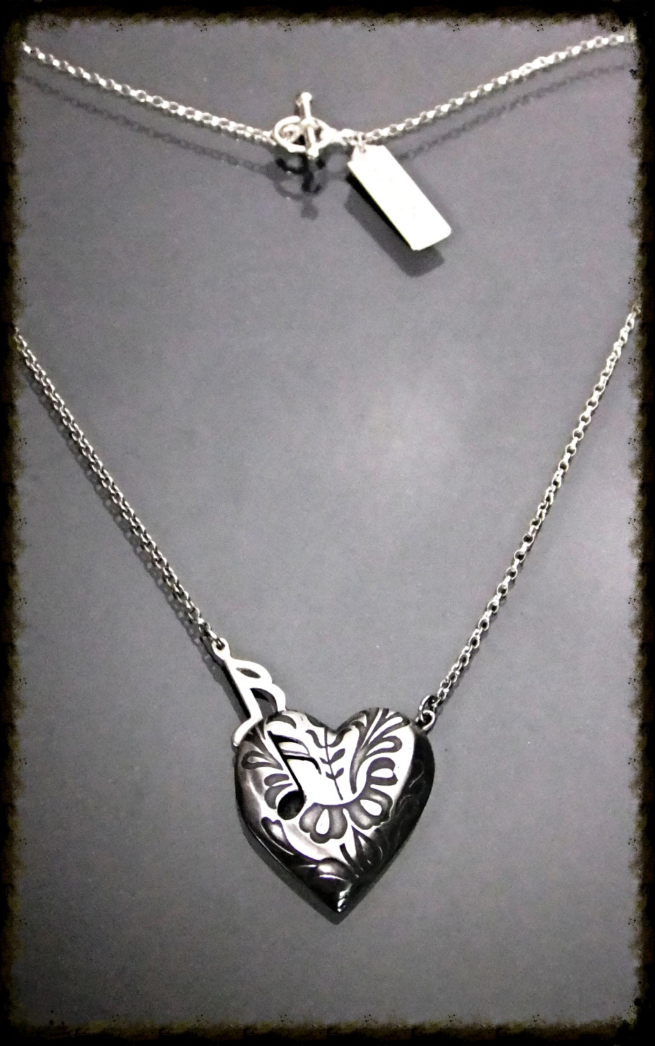 Music comes from the heart Necklace