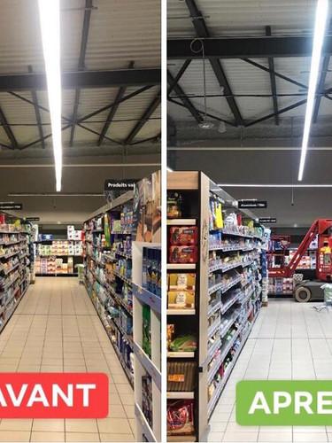 """Voyez la différence avant/après """"Relamping LED"""""""