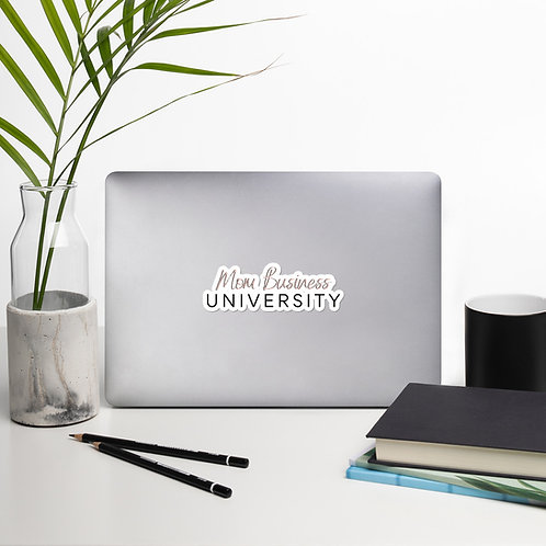 Mom Business University Bubble-free stickers