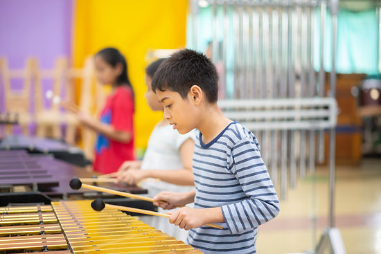 Students At Performing Arts School Playi