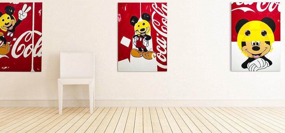 Mickey on Coke series