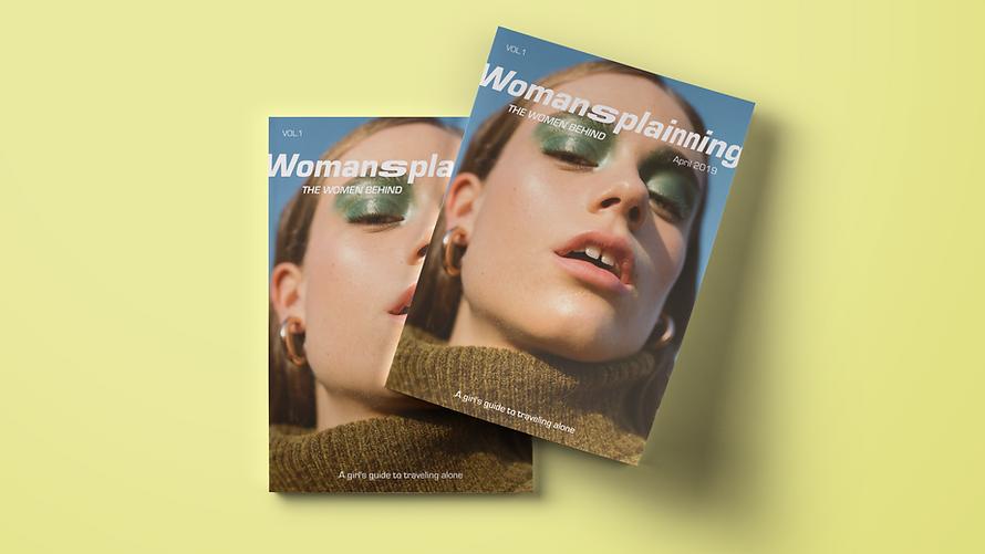Womansplainning Magazine Mockup