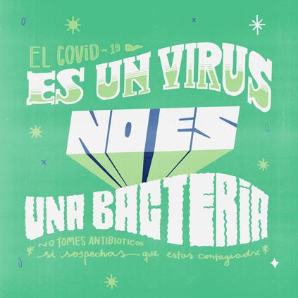 It's a virus not a bacteria