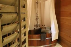 Wooden bathtub in Shere Khan