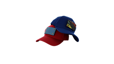 Spice your cap Flame Scarlet Red and True Blue caps