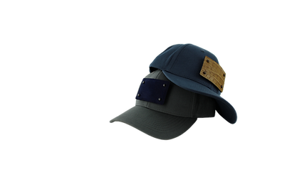 Spice your cap Gunmetal Grey and Midnight Navy Blue caps