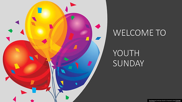 WELCOME TO Youth Sunday.jpg