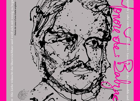 Carré Honoré de Balzac en soie naturelle