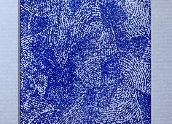 Immersion bleue Linogravure