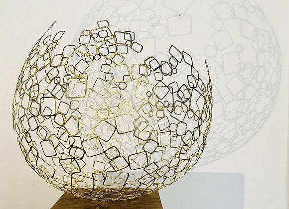 Sphère Dyson K1 mobile plaqué or