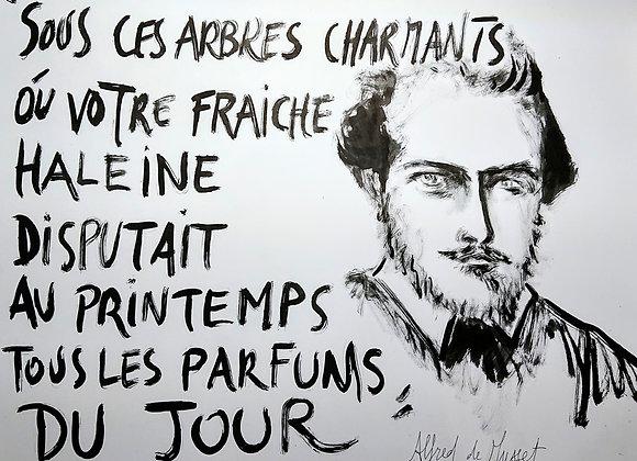 Poster Alfred de Musset par Emmanuel Braudeau
