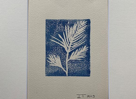 Palm of love - Linogravure