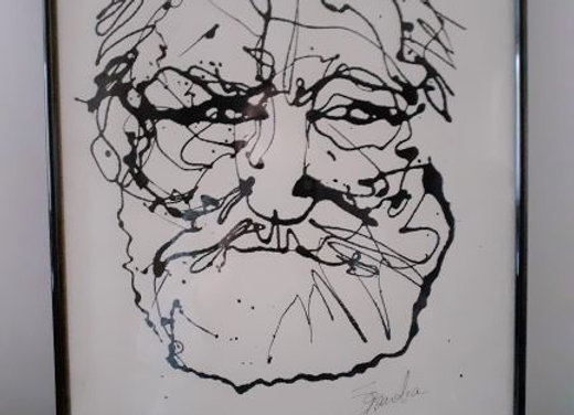 Portrait de Victor Hugo PF1 encadrement 30x40