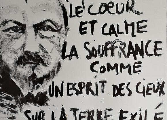 Poster Gérard de Nerval par Emmanuel Braudeau