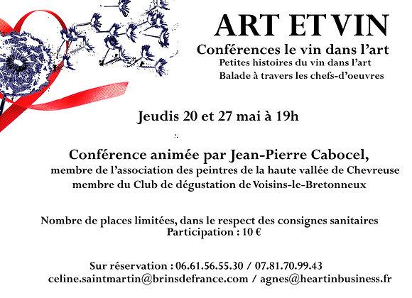 Conférence Art et Vin 20 mai à 19h