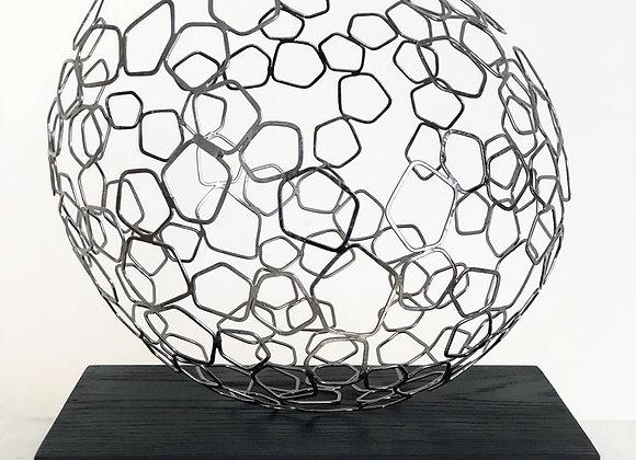 Sphere Dyson plaqué nickel 35cm