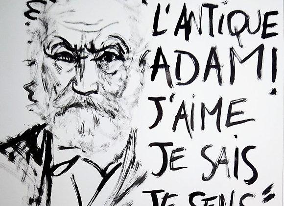 """Poster Victor Hugo """"Je suis l'antique Adam..."""" par Emmanuel Bradeau"""
