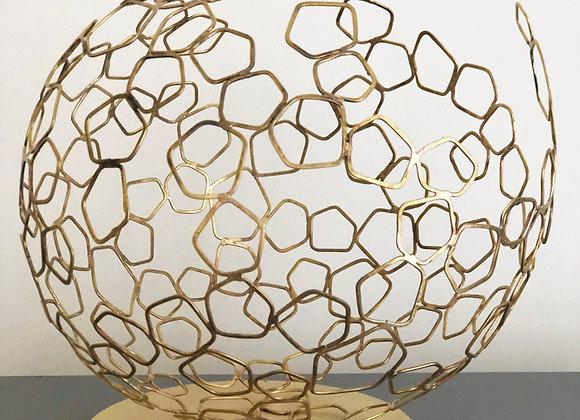 Sphère de Dyson en laiton 35 cm