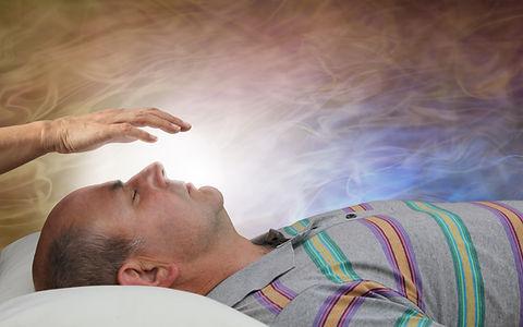 Healer Channelling White Healing Energy