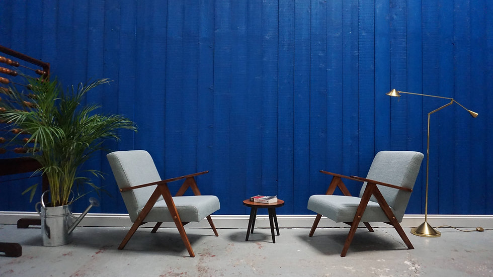 Mid Century Modern Easy Chairs from 1960's, Set of 2