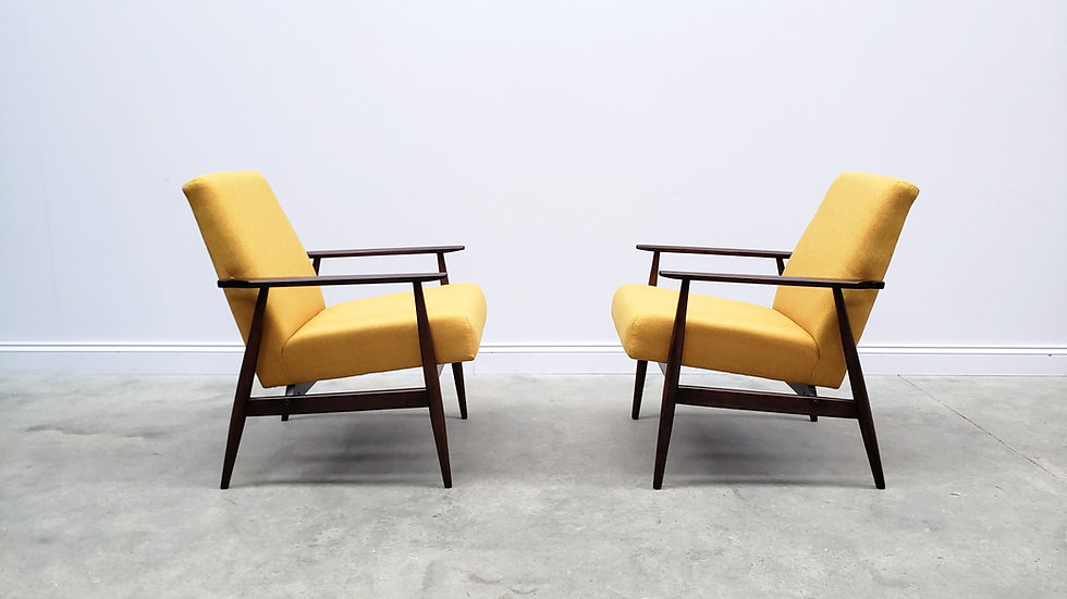 1960 Henryk Lis Mid Century Armchair in Yellow