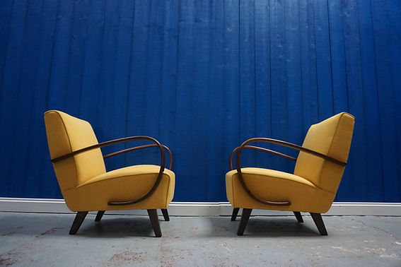 mid century vintage design armchairs sitting art deco retro
