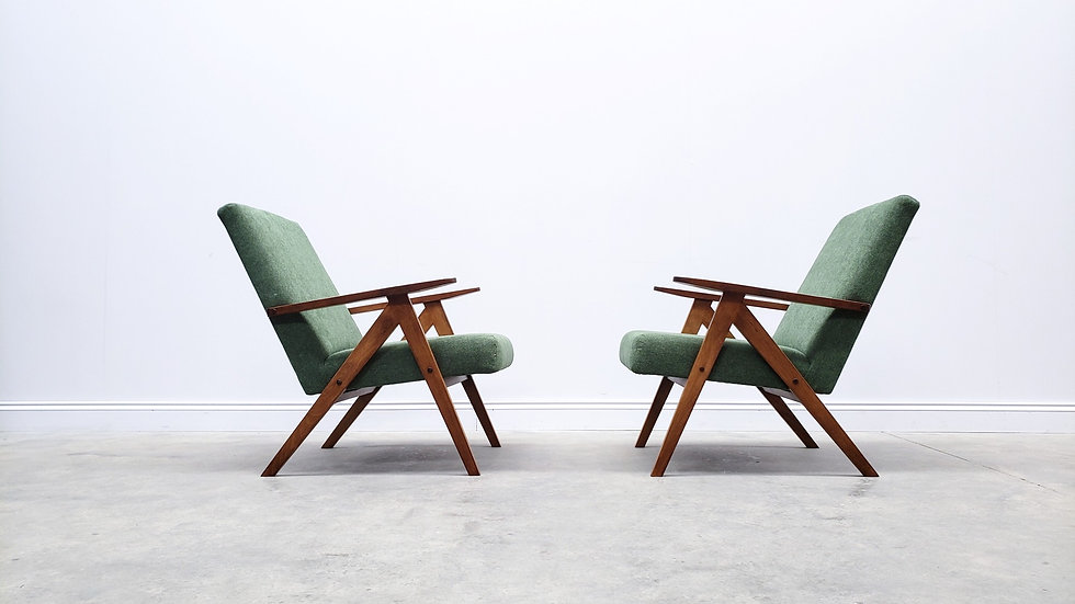 Mid Century Easy Chair Model B - 310 Var in Green