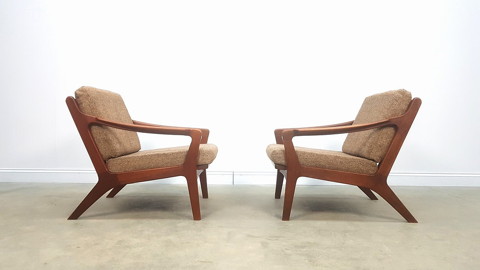 Pair of Mid Century Danish Teak Easy Chairs by Arne Wahl Iversen, 1960
