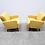 1960 Mid Century Danish Lounger Club Chair in Yellow
