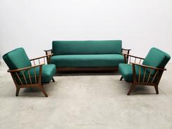 1950 Living Room Set by Wilhelm Knoll for Antimott in Green Velvet