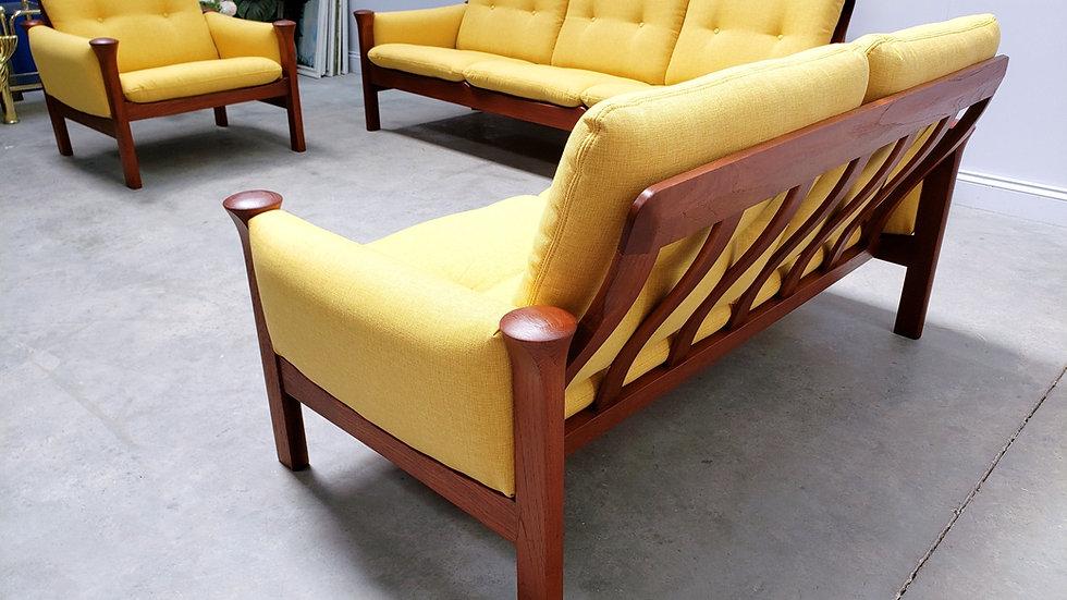 Danish Teak Living Room Set by Arne Vodder Model 162 for Cado