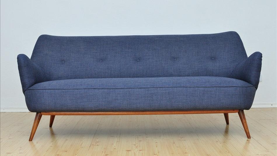 Danish 2 Seat Sofa Mid Century 1960's