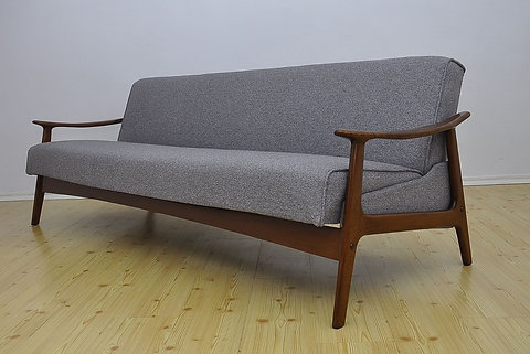 Mid Century Modern 3 Seater Danish Sofa Bed, 1960s