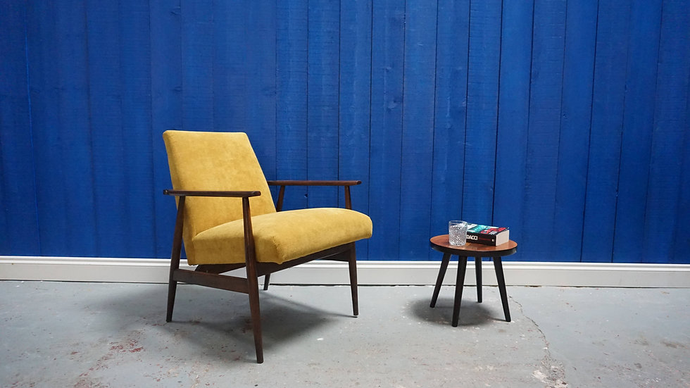 H. Lis Mid Century Modern Armchair from 1970's in Yellow Mustard