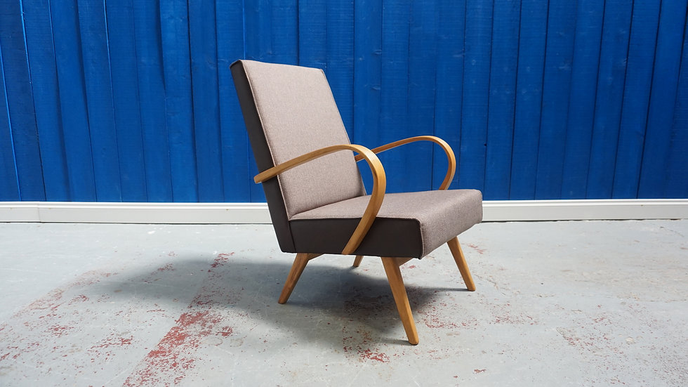 Bentwood Lounge Chair from TON, 1960's Mid Century vinage art deco