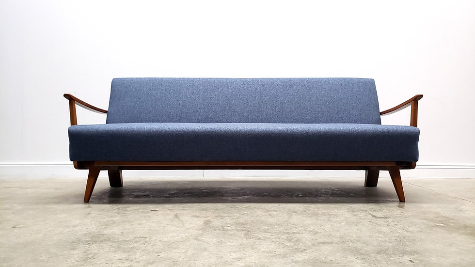 Mid Century Sofa Bed from Casala, 1960, Germany, in Navy Blue