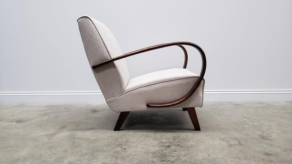 1930 Jindrich Halabala Bentwood Armchair in Light Grey