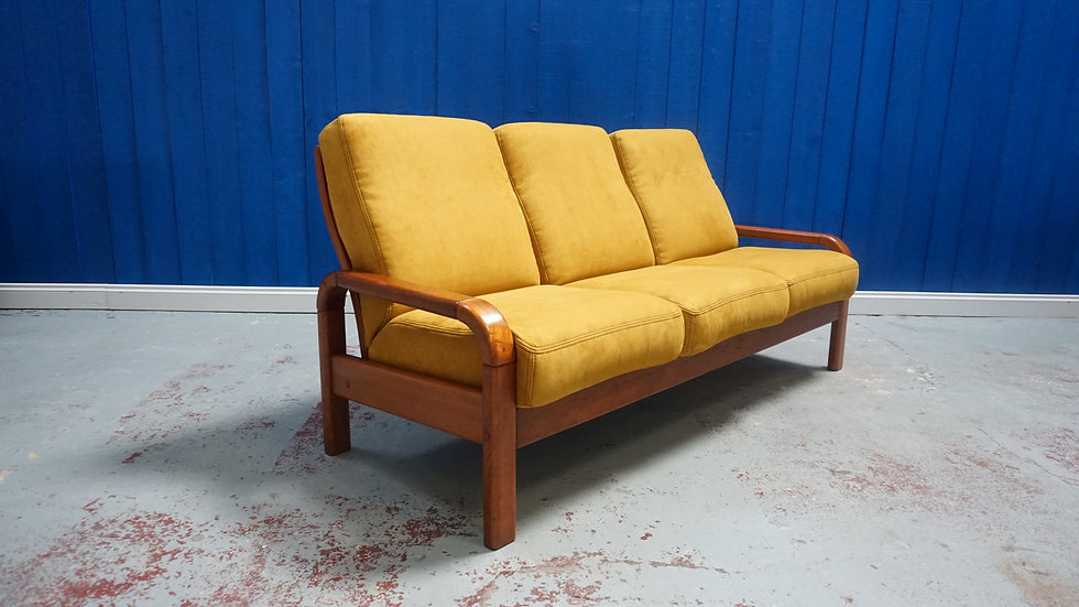 Three Seat Sofa in Teak by Preben Schou of Denmark, 1970s