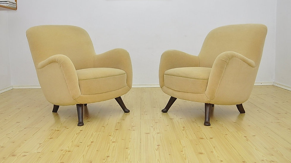 Pair of Vintage Armchairs from Berga Mobler, Sweden 1940