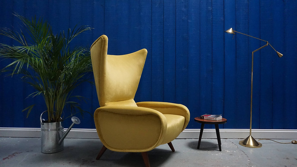 Italian Mid Century Lounge Chair in the manner of Marco Zanuso, 1960s