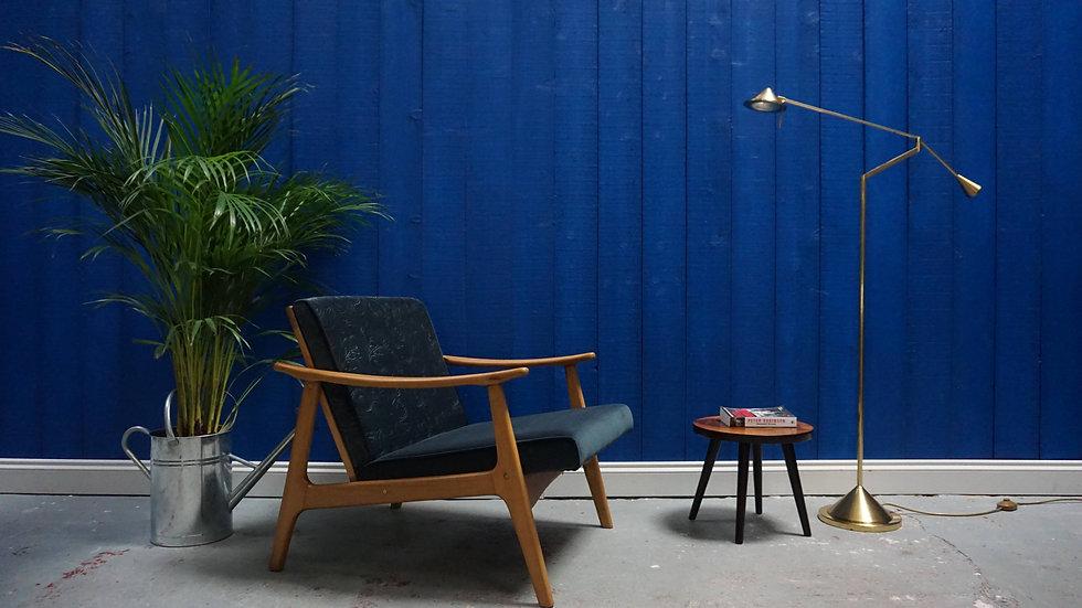 Mid Century Modern Danish Lounger Armchair from 1960's