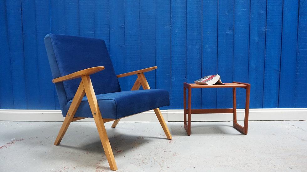 Mid Century Lounge Chair in Velvet armchair vintage luxury