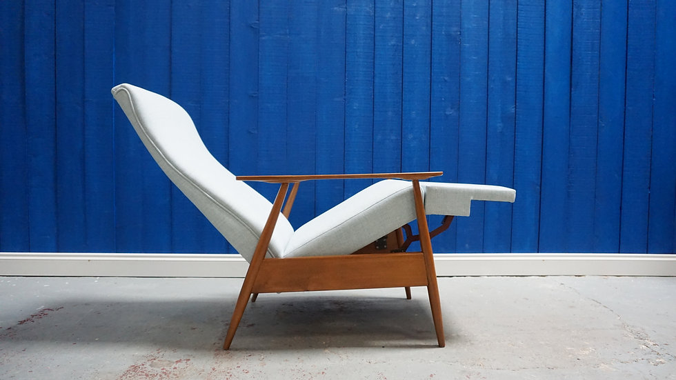 Mid Century Recliner Armchair from 1960's classic design modern uniqe