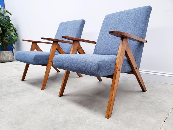 Mid Century Easy Chair Model B - 310 Var in Blue